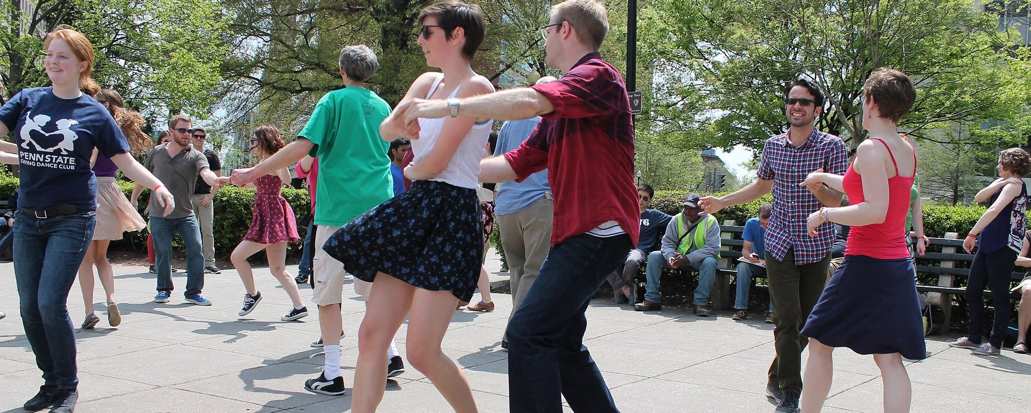 Couple's dance at the park